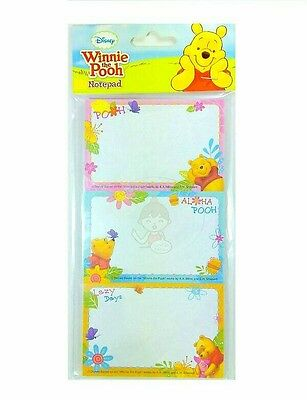 Super Cute Disney Winnie The Pooh 30 Sheets Perforated Notepad #a