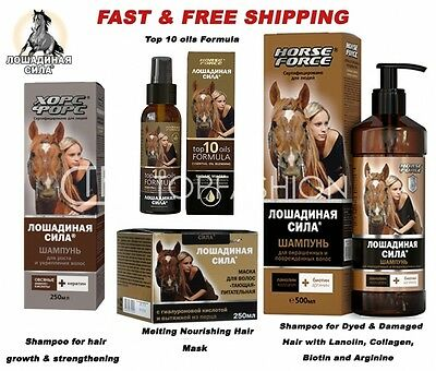 HORSE FORCE SHAMPOO hair growth & strengthening keratin based surfactants oat