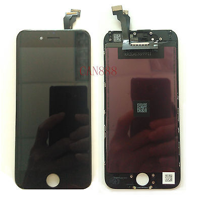 TOUCH SCREEN + LCD DISPLAY RETINA + FRAME PER APPLE IPHONE 6 4.7 Nero