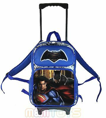 "Batman Vs. Superman Blue Large School Trolley w/ Detachable 16"" Backpack"