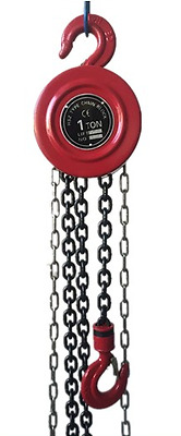 Chain Hoist 1 Ton 2000 Lb Capacity 8ft Lift Engine Puller Pulley Winch Block