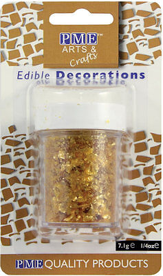 Gold - Edible Glitter Flakes By PME