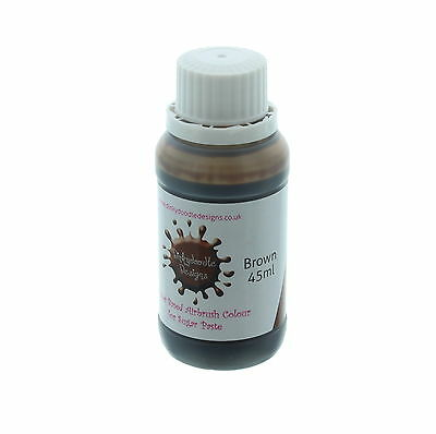Brown Water Based Airbrush Colour For Sugar Paste 45ml by Dinkydoodle