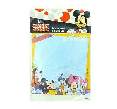 Super Cute Disney Mickey & Friends 50 Sheets Square Notepad