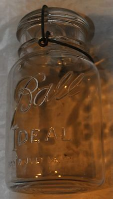 Vintage Antique Ball Ideal Mason Canning Jar PAT DATE July 14, 1908