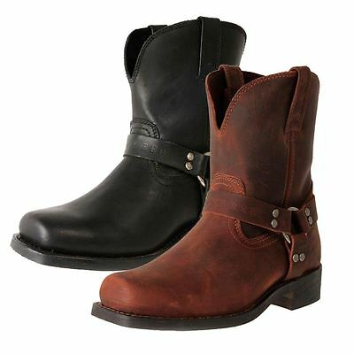 New Jenny Reb Women's Wide Leather Pull On Ankle Motorcycle Boots Bounty Cheap