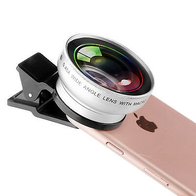 ZOMEI 2in1 Clip Universal Cell phone Wide Angle+Macro Camera Lens For iPhone