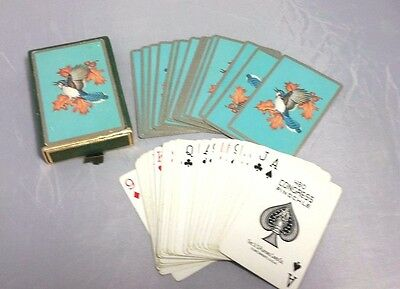 Vintage Blue Jay Bird PLAYING CARDS Deck in Original Case