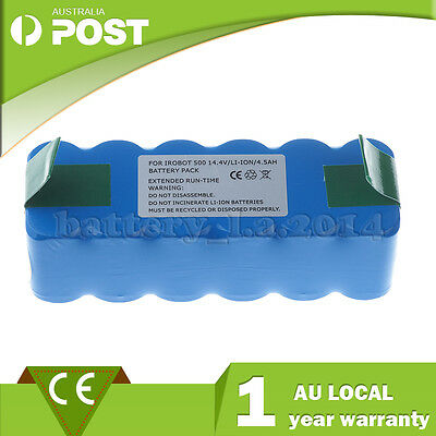 14.4V 4500mAh Lithium-ion Battery for iRobot Roomba 500,570,580,610,630,780,800