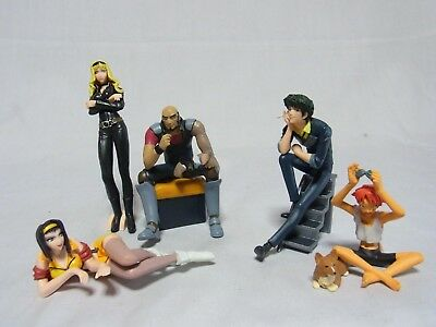 SUNRISE Cowboy Bebop Prize Figures ALL 6 Charaters Completed Set Brand-New