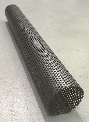 """Exhaust Perforated Stainless Steel Tube 1.5"""" x 500mm"""
