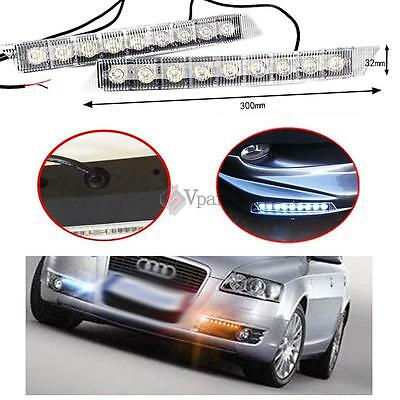 2pcs 12v Audi Style 9 LED Daytime Running Light DRL Fog Lamp Day Lights Daylight