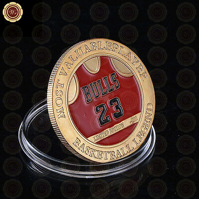 Michael Jordan Number 23 Basketball Legend Most Valuable Player Challenge Coin