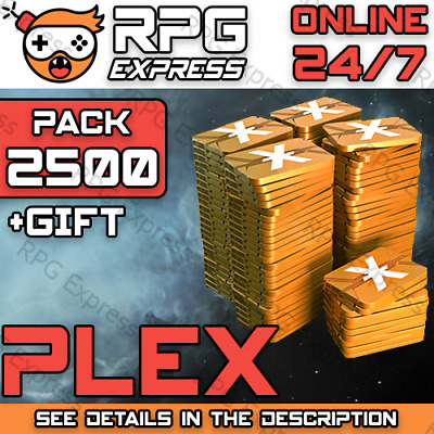 EVE Online PLEX x2500  FAST+SAFE+Gift+Discount  Skill Injector / ISK   24/7
