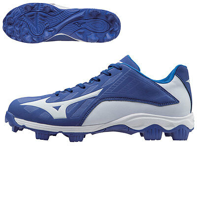 Mizuno Youth 9-Spike Advanced Franchise 8 Low Baseball Cleats - Royal/White - 6