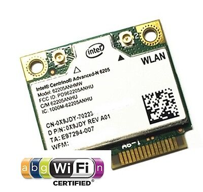 + Intel® Centrino® Advanced-N 6205 62205ANHMW Dual Band 300Mbit/ Mini PCIe+