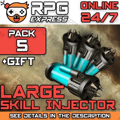 EVE Online LARGE Skill Injector x5 |FAST+SAFE+Gift+Discount| PLEX / ISK | 24/7