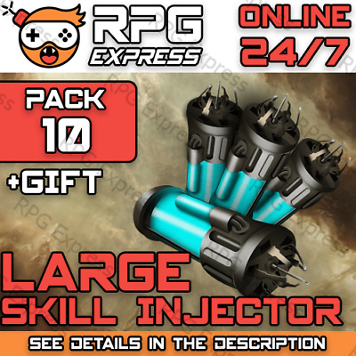 EVE Online LARGE Skill Injector x10  FAST+SAFE+Gift+Discount  PLEX / ISK   24/7