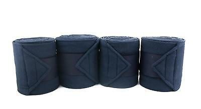 Fantastic Quality Fleece Polo Bandages Stable/Travel Set of Four Navy !!