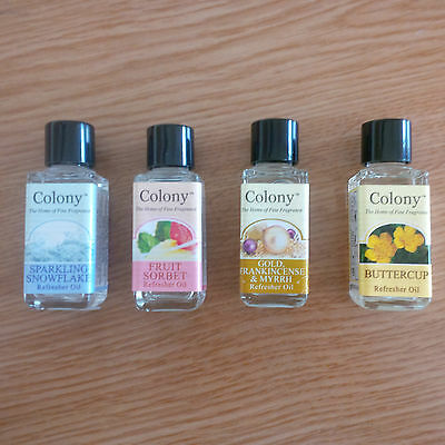 Colony Aromatic Refresher Oil Fragrance Perfume 9ml Burners Lamps Diffusers