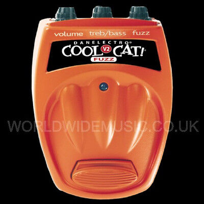 DANELECTRO COOL CAT V2 FUZZ Guitar Pedal / Stomp Box