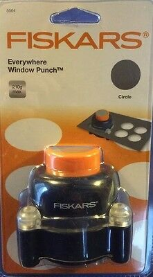 """Fiskars Everywhere Window Punch for Creating Perfect Round 2"""" Windows on Card"""