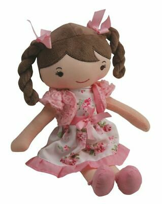 Pink Floral Soft Bodied Rag Doll 30cm 3+ Months