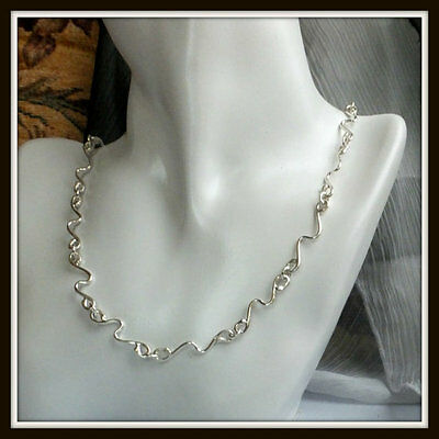 Eurydice Art jewelry Handmade chain in sterling silver 925
