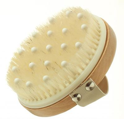 Hydrea London Lymphatic Detox Brush With Natural Bristle & Rubber Nodules WSH12H