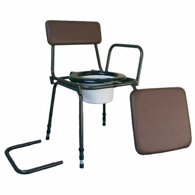 Surrey Height Adjustable Commode Chair Incontinence Toilet Mobility Disability