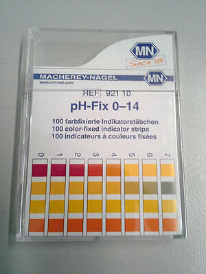 pH Indicator Strips, Special Range 0-14