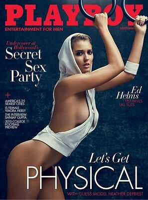 Playboy September 2015 Edition- Let's Get Physical **new**