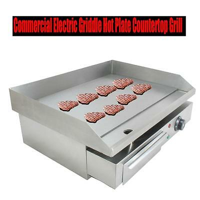 Commercial Electric Griddle Flat Hotplate Kitchen BBQ Grill Diy Foof EU Plug New
