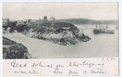 TENBY Castle Hill, , Early Postcard Postally Used c1903