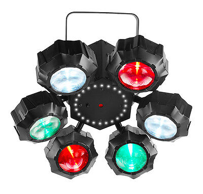 Chauvet Beamer 6 Fx Multi Effect Beam Led Rgbw With Red / Green Laser & Strobe