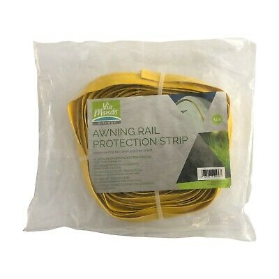 Blue Diamond Caravan Awning Rail Protector Strip - 12m Pack - Yellow