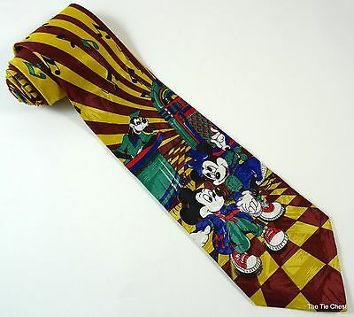 Mickey and Minnie Mouse Dancing Tie Music Jukebox Goofy Necktie