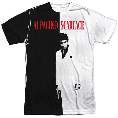 Scarface Classic Movie Poster World is Yours 1-Sided Big Print Poly Shirt S-3XL
