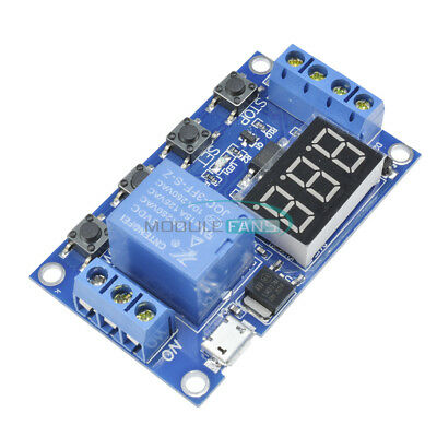Digital LED Trigger Delay Cycle Timer Control Switch Relay Module Micro USB 5V