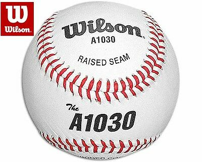 SET OF THREE (3) WILSON A1030 Official League FULL GRAIN LEATHER Baseball Ball