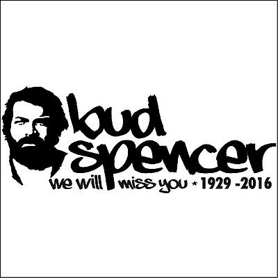 Bud Spencer we will miss you Aufkleber Oldschool Tattoo