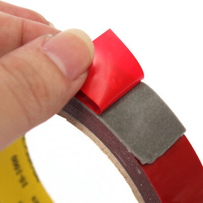 3m x 15mm AUTO ACRYLIC FOAM DOUBLE SIDED ATTACHMENT ADHESIVE TAPE. UK SELLER
