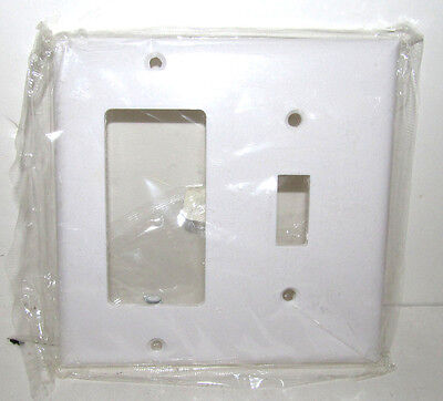 Cooper Wiring White Toggle/Rocker Plate Standard Combo Plates 2153W NEW