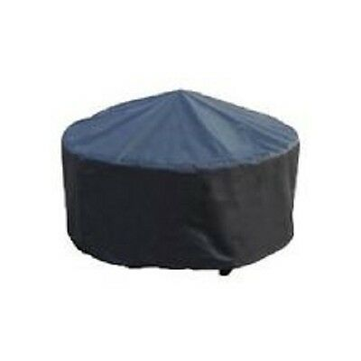 New Outdoor Patio 30-inch Round Fire Pit Black Cover Water Resistant