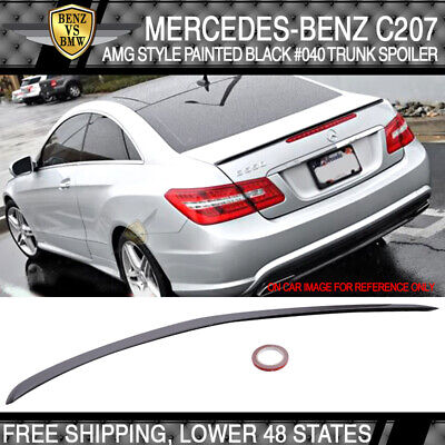 Stock IN US 10-16 C207 AMG Type M-Benz E-Class Coupe Trunk Spoiler Painted #040