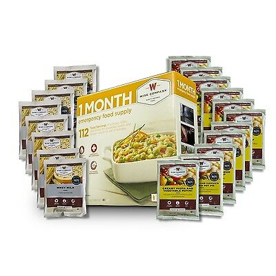Wise 1 Month Emergency Food Supply Kit Entrees Breakfasts & Milk- Camping FS112