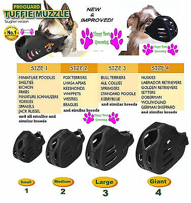 ProGuard TUFFIE Premium Comfort QUICK FIT DOG TRAINING HEAVY DUTY MUZZLE*4 Size