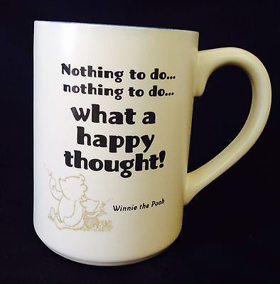 Disney Winnie The Pooh Nothing To Do What A Happy Thought Mug