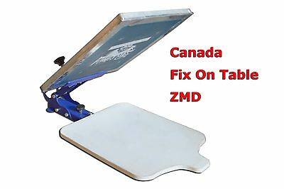 1 Color 1 Station Silk Screen Printing Fix On Table T-shirt Press Pallet Machine