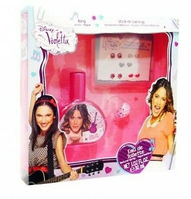 Disney Violetta Gift Set with Eau De Toilette Spray 30ml, Ring, and Stick-on Ear
